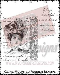 Eloise Collage Cling Mounted Rubber Stamps from Red Rubber Designs