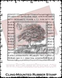 Arboretum Collage Cling Mounted Rubber Stamp from Red Rubber Designs