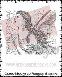 Joyeux Noel Cling Mounted Rubber Stamp from Red Rubber Designs