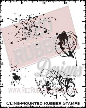 So Splattered Cling Mounted Rubber Stamps from Red Rubber Designs