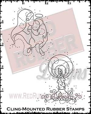 Christmas Season Cling Mounted Rubber Stamps from Red Rubber Designs