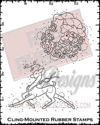 Santa Season Cling Mounted Rubber Stamps from Red Rubber Designs