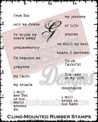 Faith Booking Cling Mounted Rubber Stamps from Red Rubber Designs