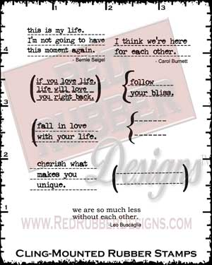 Life Thoughts Cling Mounted Rubber Stamps from Red Rubber Designs