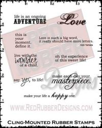 More Life Thoughts Cling Mounted Rubber Stamps from Red Rubber Designs