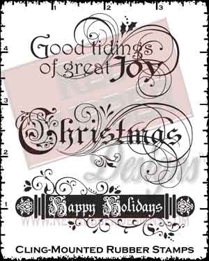 Good Tidings Cling Mounted Rubber Stamps from Red Rubber Designs
