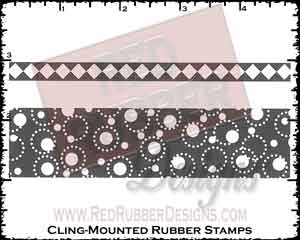 Showy Strips Cling Mounted Rubber Stamps from Red Rubber Designs