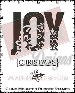 Joy Of Christmas Cling Mounted Rubber Stamps from Red Rubber Designs