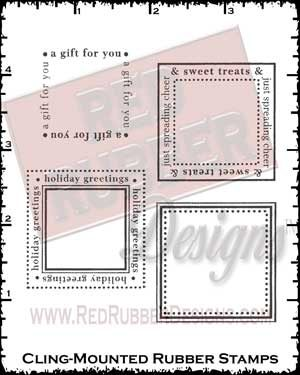 Sweet Goodies Squares Cling Mounted Rubber Stamps from Red Rubber Designs