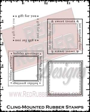 Sweet Goodies Squares Cling Mount Rubber Stamps