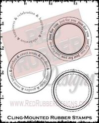 Sweet Goodies Circles Cling Mounted Rubber Stamps from Red Rubber Designs