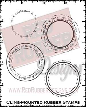 Sweet Goodies Circles Cling Mount Rubber Stamps