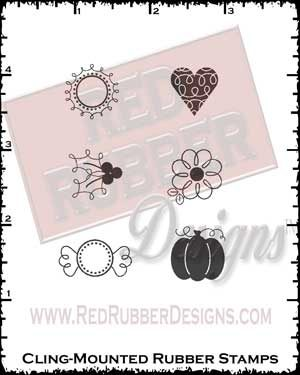 Sweet Goodies Accessories Cling Mounted Rubber Stamps from Red Rubber Designs