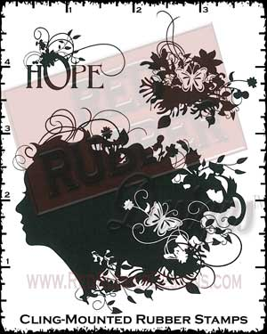 Natural Hope Cling Mounted Rubber Stamps from Red Rubber Designs