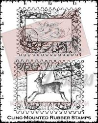 Holiday Collages Cling Mounted Rubber Stamps from Red Rubber Designs