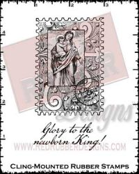 Newborn King Cling Mounted Rubber Stamps from Red Rubber Designs