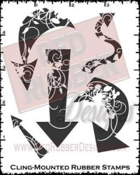 Elegant Arrows Cling Mounted Rubber Stamps from Red Rubber Designs