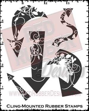 Elegant Arrows Cling Mount Rubber Stamps