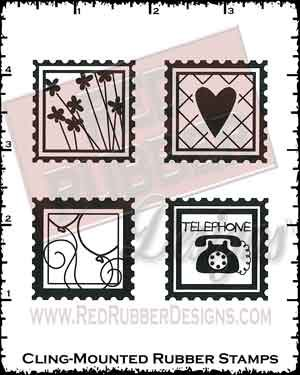 Friendship Stamps Cling Mounted Rubber Stamps from Red Rubber Designs