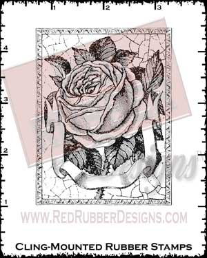 Abounding Rose Cling Mounted Rubber Stamps from Red Rubber Designs