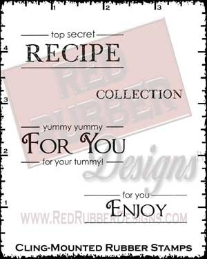 Label Lingo Recipes Cling Mounted Rubber Stamps from Red Rubber Designs