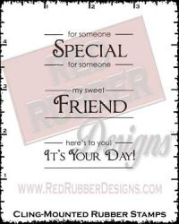 Label Lingo Friends Cling Mounted Rubber Stamps from Red Rubber Designs