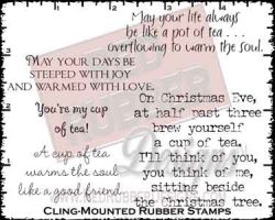 Cup Of Tea Cling Mounted Rubber Stamps from Red Rubber Designs