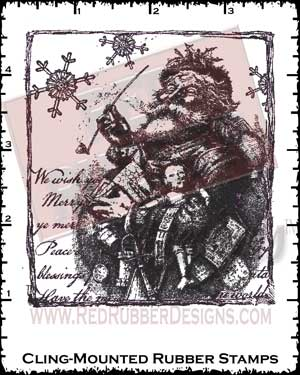 Vintage Santa Cling Mounted Rubber Stamps from Red Rubber Designs
