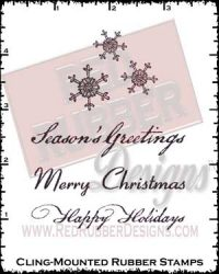 Vintage Christmas Cling Mounted Rubber Stamps from Red Rubber Designs