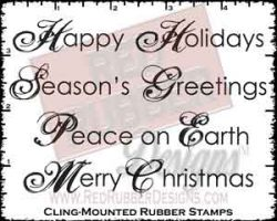 Peace On Earth Cling Mounted Rubber Stamps from Red Rubber Designs