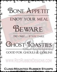 Bone Appetit Cling Mounted Rubber Stamps from Red Rubber Designs