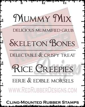 Mummy Mix Cling Mounted Rubber Stamps from Red Rubber Designs