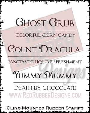 Ghost Grub Cling Mounted Rubber Stamps from Red Rubber Designs