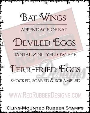 Bat Wings Cling Mounted Rubber Stamps from Red Rubber Designs