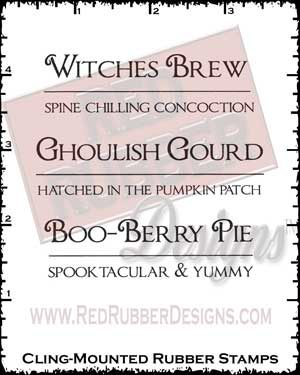 Witches Brew Cling Mounted Rubber Stamps from Red Rubber Designs