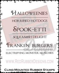 Halloweenies Cling Mounted Rubber Stamps from Red Rubber Designs