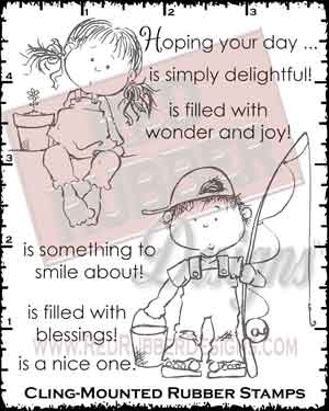 Jackson and Amelia Cling Mounted Rubber Stamps from Red Rubber Designs