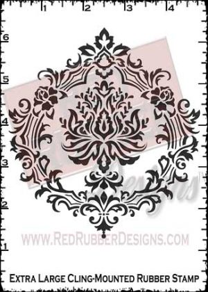 Damask Backgrounder Cling Mounted Rubber Stamps from Red Rubber Designs