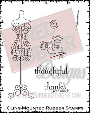 Sew Thoughtful Cling Mounted Rubber Stamps from Red Rubber Designs