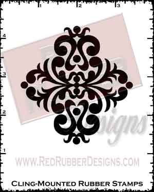 Dazzling Diamond Cling Mounted Rubber Stamp from Red Rubber Designs