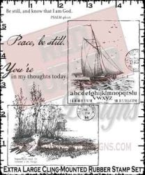 Peace Be Cling Mounted Rubber Stamp from Red Rubber Designs