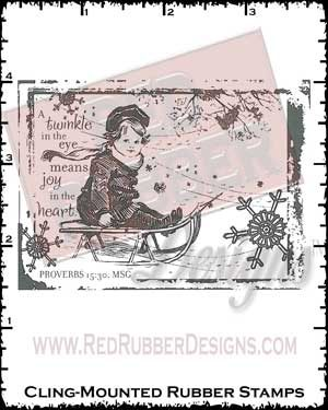 Twinkle In The Eye Cling Mounted Rubber Stamp from Red Rubber Designs