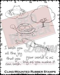 Wish You Joy Cling Mounted Rubber Stamps from Red Rubber Designs