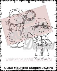 Thanksgiving Sweeties Cling Mounted Rubber Stamps from Red Rubber Designs