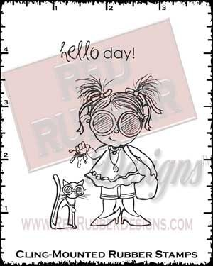 Hello Day Cling Mounted Rubber Stamps from Red Rubber Designs