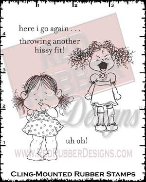 Uh-Oh Cling Mounted Rubber Stamps from Red Rubber Designs