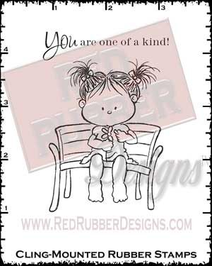 One of a Kind Cling Mounted Rubber Stamps from Red Rubber Designs