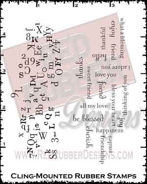 Background Soup Cling Mounted Rubber Stamps from Red Rubber Designs