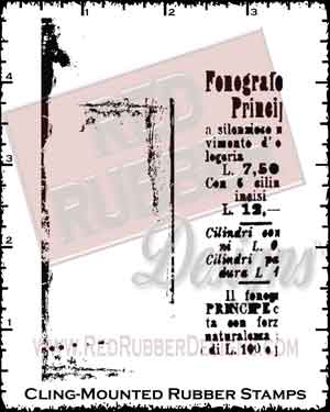 Background Grunge Cling Mounted Rubber Stamps from Red Rubber Designs