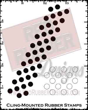 Background Dots Cling Mounted Rubber Stamps from Red Rubber Designs